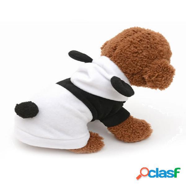 Animal de estimação cachorro gato cute fleece panda roupas casaco quente traje outwear vestuário xs-xxl