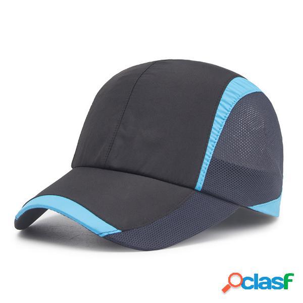 Homens mulheres ultra-fino e respirável de secagem rápida mesh baseball cap sport climbing riding net hats
