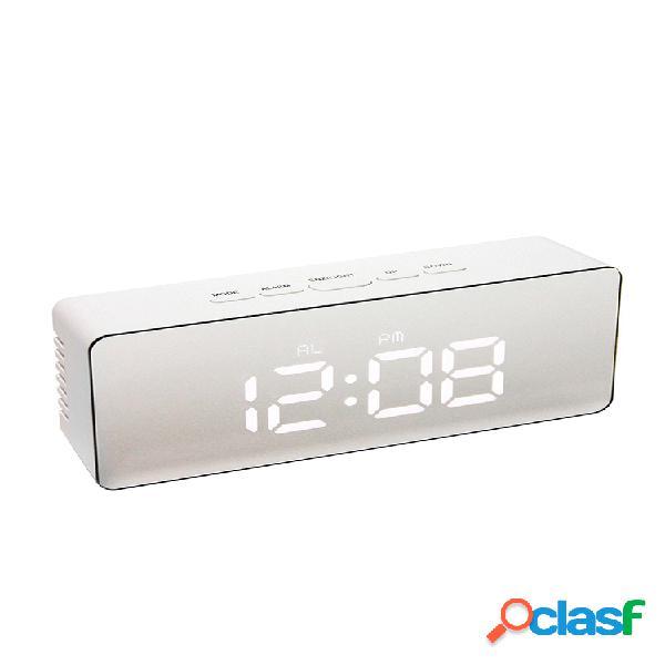 Digital despertador led relógio multifuncional multifuncional relógio relógio lcd luz noturna tempo temperatura
