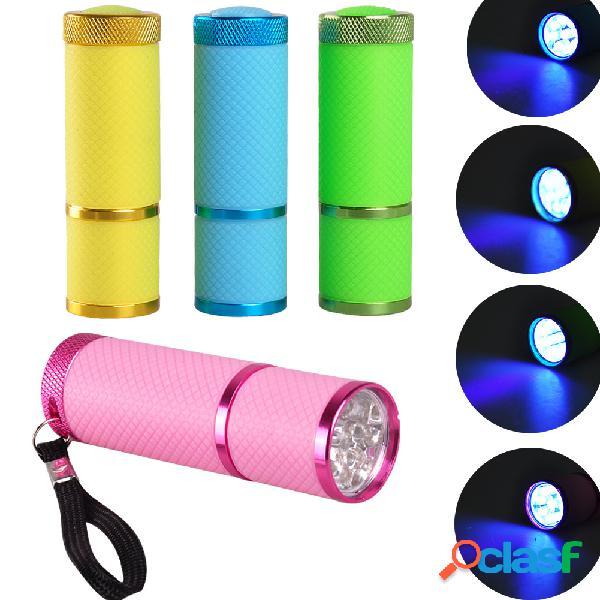 9 led lanterna mini gel polonês uv led lâmpada de unhas 30s fast drying nails art cura de ferramentas portáteis