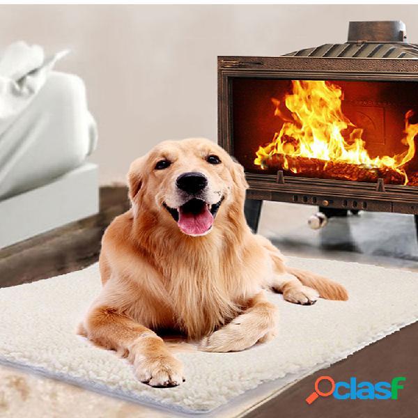 Tapete com autoaquecimento tapete para animais de estimação de inverno grande lavável para animais de estimação cachorro cat tapete com aquecimento automático para cama tapete quente almofada