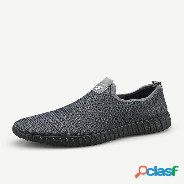 Homens malha tecido respirável peso leve soft sapatos de caminhada