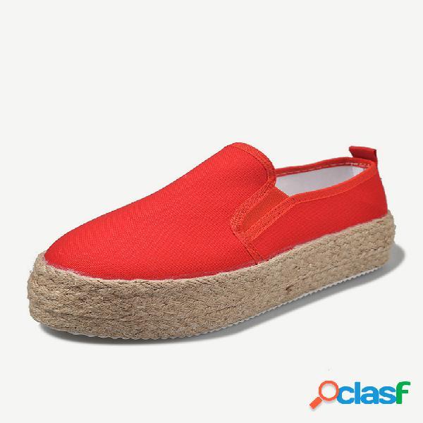 Sapatos com plataforma de tamanho grande e cor sólida para mulheres