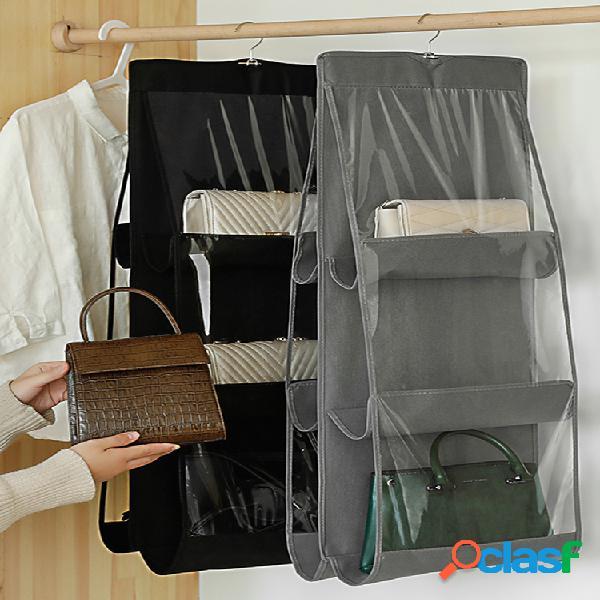 Saco de armazenamento de saco suspenso de parede dupla-face espesso saco de armazenamento de não tecido