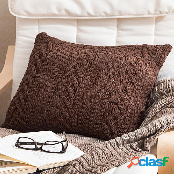 Travesseiro de malha estilo nórdico de crochê caso travesseiro de malha robusto caso travesseiro de sofá doméstico caso art dec