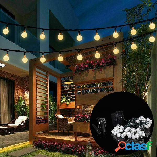 9.5m 50 led lâmpada de fada solar string light 8 modes outdoor indoor garden garden lâmpada de férias de casamento