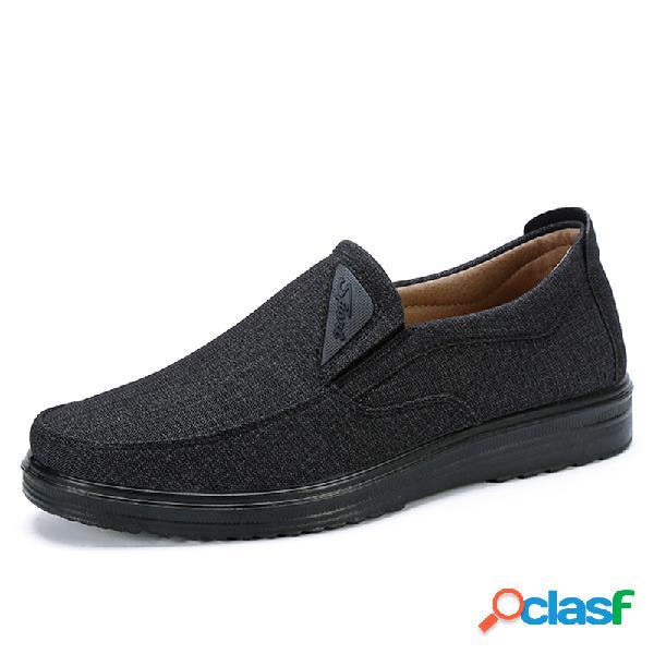 Men old peking style respirável tecido confortável soft deslizamento em sapatos casuais