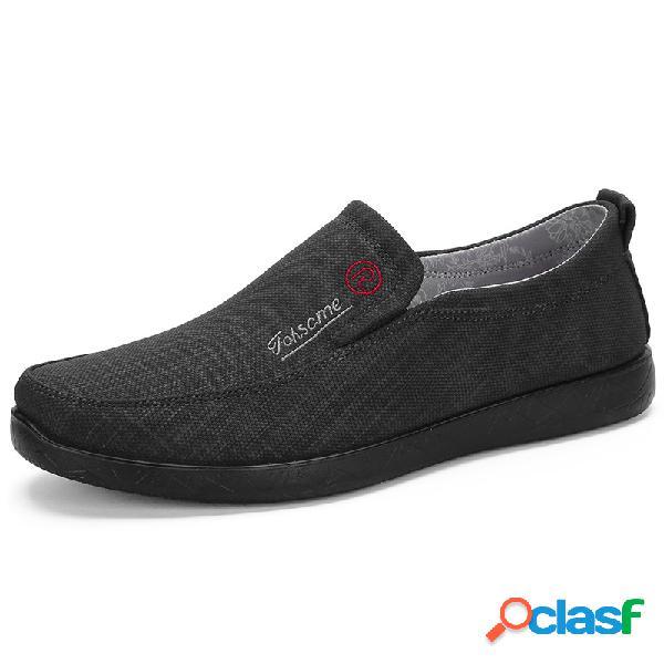 Deslizamento respirável soft de pano velho do estilo de pequim dos homens em sapatas ocasionais