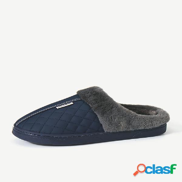 Forro aquecido impermeável masculino soft sapatilha de sola casuais botas casuais