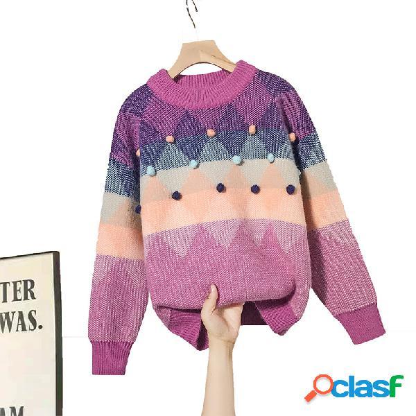 Meninas camisola outono e inverno malha grossa assentamento camisa casaco camisola