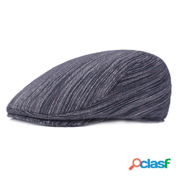 Mens algodão cor sólida tarja beret cap pato chapéu sombrinha ao ar livre picos de frente cap ajustável ha