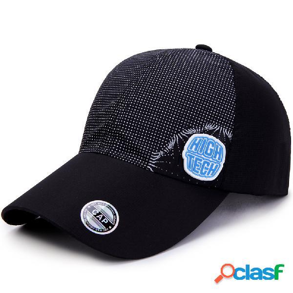 Verão dos homens respirável ajustável hat cap secagem rápida esportes ao ar livre escalada boné de beisebol