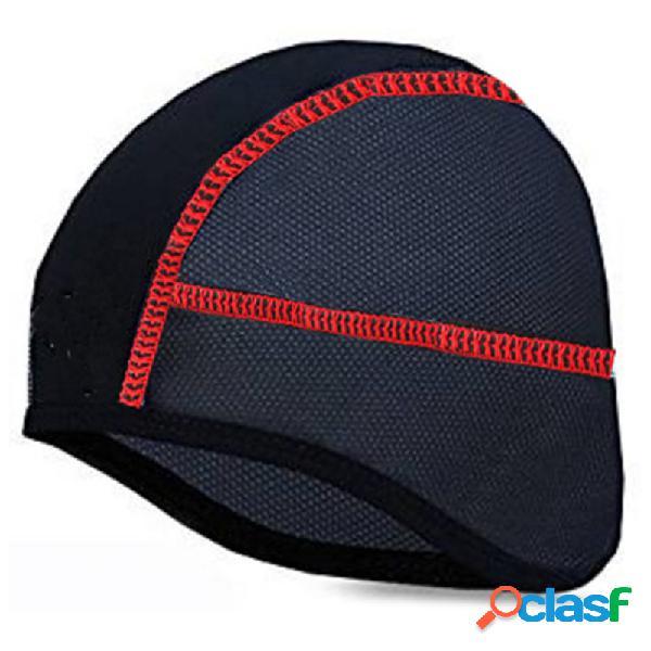 Homens de poliéster suor respirável flexível ajustável confortável de secagem rápida de equitação beanie cap