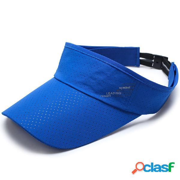 Homens mulheres vazio superior aba larga de secagem rápida ajustável luz da estrela padrão casuais boina cap