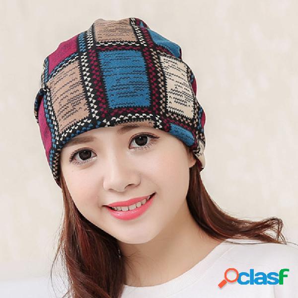 Senhora de veludo de algodão malha multi-funcional quente gorro chapéu lazer moda chapéu macio