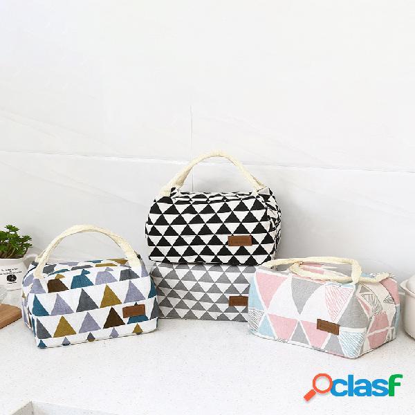 Geométrica padrão isolamento bolsa frio bolsa pacote de gelo almoço caixa bolsa creative portable picnic bolsa