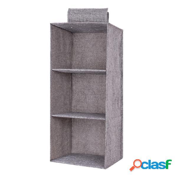 Minleaf algodão, linho, armário, organizador, armazenamento dobrável, bolsa, prateleiras, cores e camadas opcionais