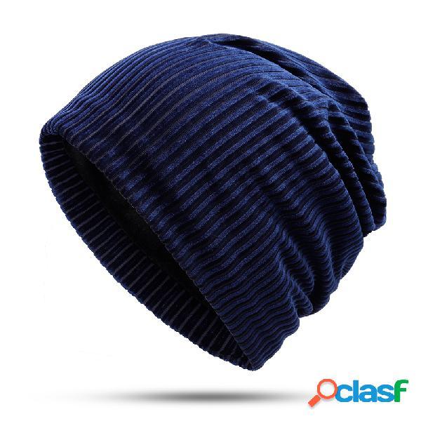 Gorro feminino de algodão de veludo étnico chapéu vintage bom elástico quente inverno turbante bonés