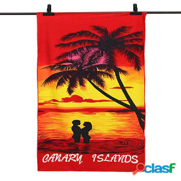 70x150cm coco árvores amorous sentimentos secagem rápida praia toalhas toalha de banho de microfibra absorvente