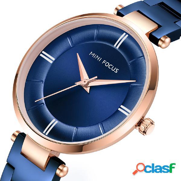 Casual design mulheres de aço inoxidável relógio de pulso das senhoras relógio de quartzo