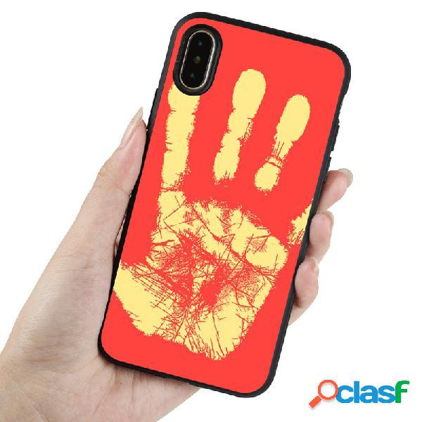 Mulheres homens moda cor sólida tpu criativa termocromática telefone iphone case