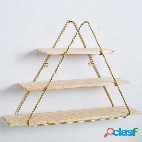 Geométrica cesta de ferro rack de montagem na parede rack de prateleira de armazenamento suporte de prateleira suporte de parede cremalheira decoração