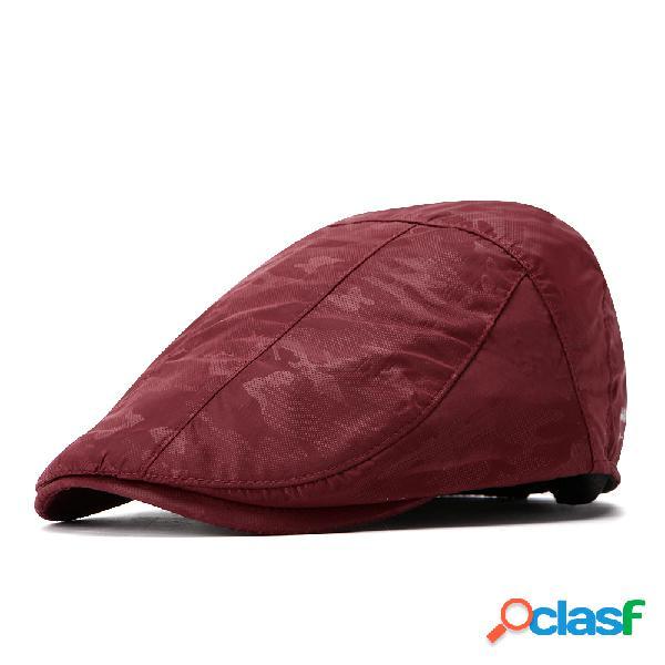 Mens womens verão cor sólida respirável secagem rápida beret cap sombrinha cap ocasional ao ar livre