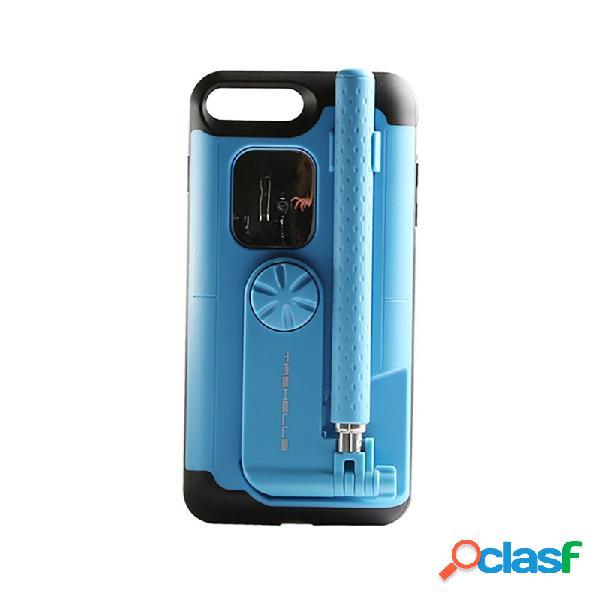 Mulheres sólida tampa traseira bluetooth selfie varanda telefone caso multi-função iphone telefone caso