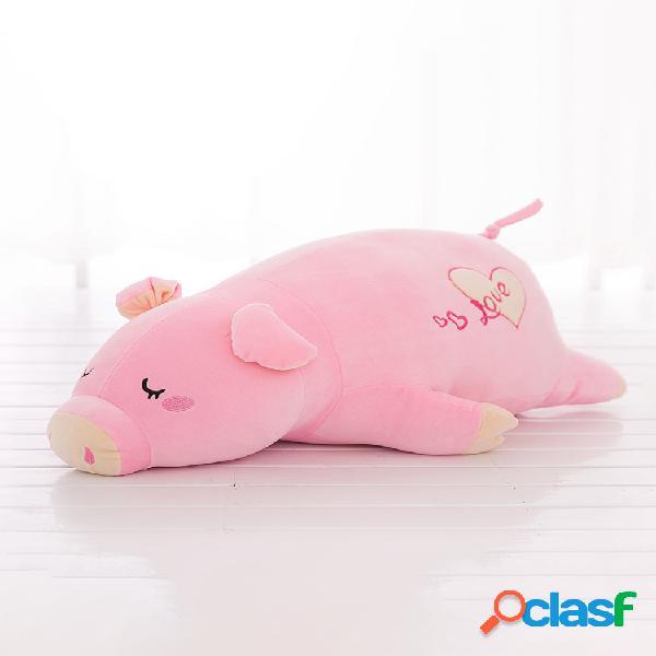 Travesseiro de porco fofo e resiliente de veludo de penugem de algodão de pelúcia almofada de brinquedos para presente infantil 45/55/70/90 cm