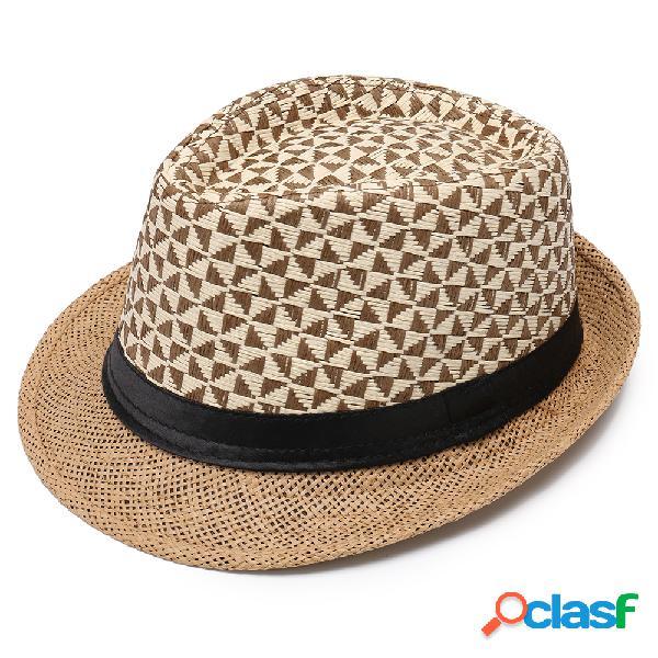 Homens mulheres boné de jazz de protetor solar de papel de verão outdoor casual respirável chapéu