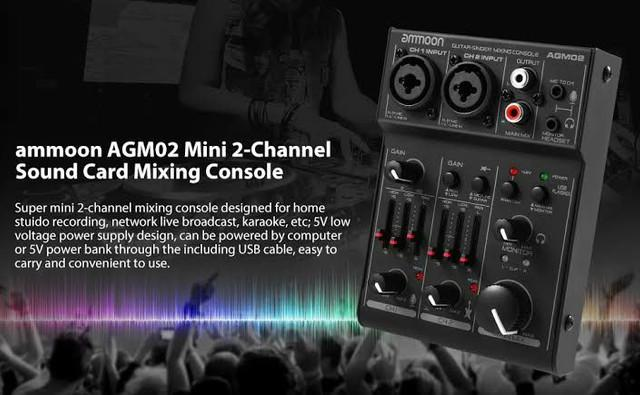 Disponível)))) interface de áudio ammoon agm02 zerada