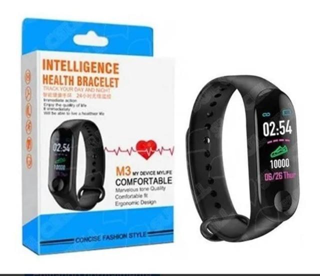 M3 smartband relogio inteligente, whats na descrição