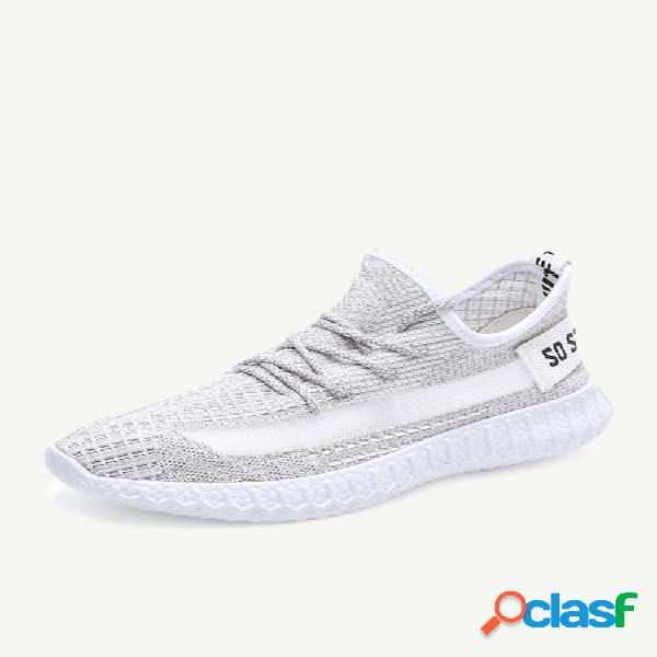 Chuanchuan season new sports wind single shoes men's flying woven malha tide shoes respirável men's shoes f002