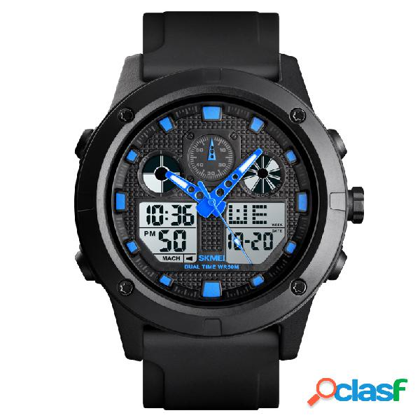 Relógio masculino esportivo à prova d'água digital led relógio militar eletrônico para exterior relógio