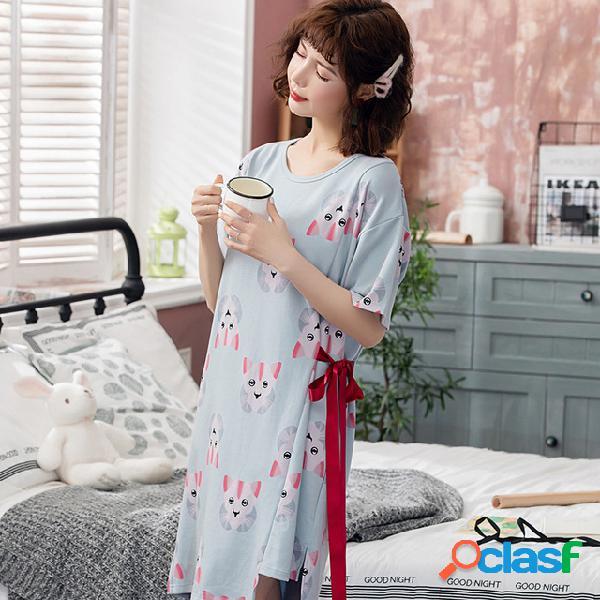 701 # temporada princesa doce fresco camisola solta de algodão mulheres confortável manga curta m-xxl