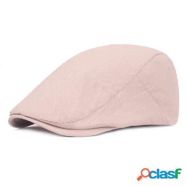 Boné de boina de cor sólida de algodão unissex pato chapéu casual ao ar livre pára-sol ajustável repicado frente cap