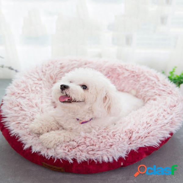 Canil para animais de estimação de inverno com veludo espesso cupcake cachorro cama quente de dormir para gatos