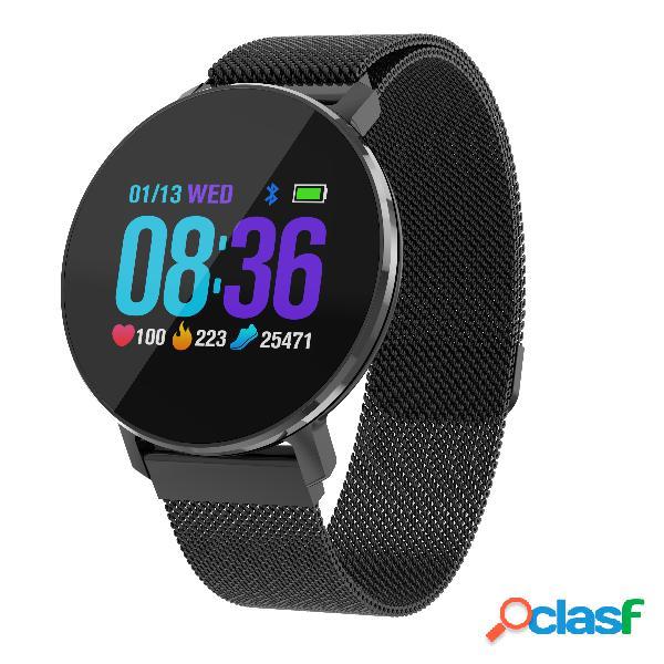 Relógio de negócios em aço cheio ultra fino design relógio inteligente monitor de atividade dinâmica coração relógio monitor de taxa