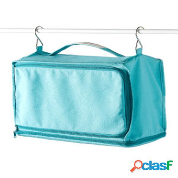 Armário de pano de lona removível portátil de grande capacidade pendurado bolsa