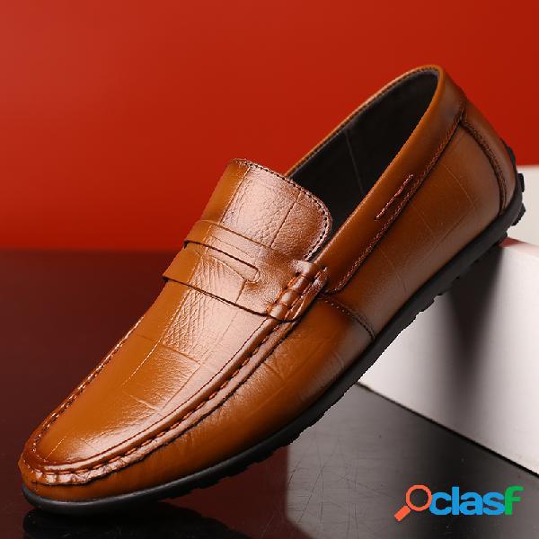 Homens manta baixa top soft sole deslizamento em condução loafers casual