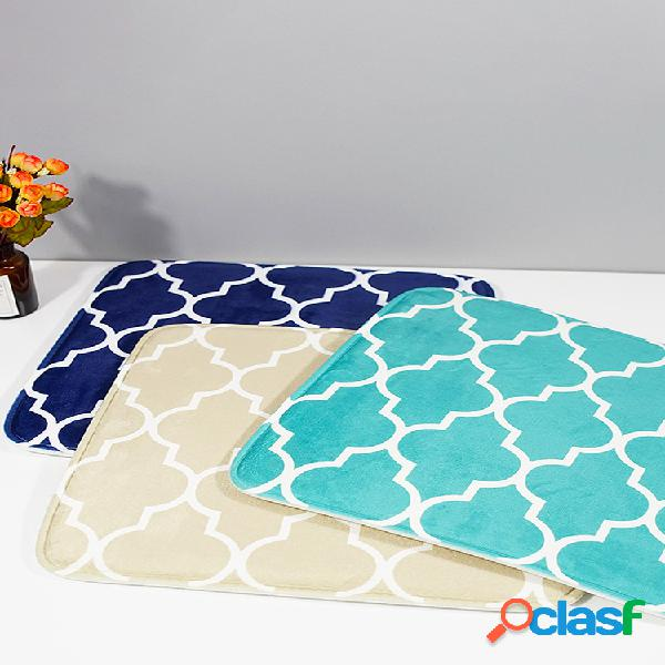Tapetes de espuma de flanela com memória soft almofada de assento antiderrapante almofada de absorção de água almofada de cozinha almofada de cadeira