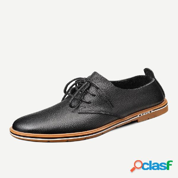 Menico homens couro de vaca antiderrapante soft sola casual formal sapatos