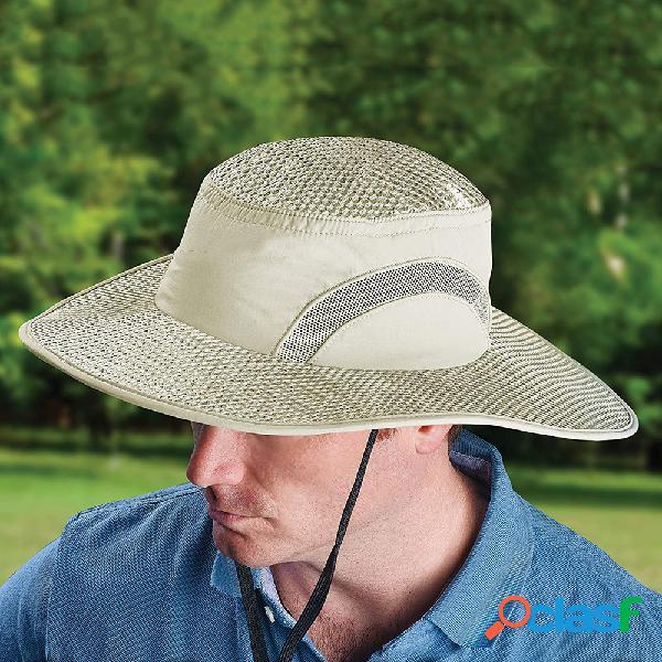 Protetor solar resfriamento chapéu calota de gelo balde de proteção contra insolação chapéu sun chapéu com uv proteção pesca chapéu
