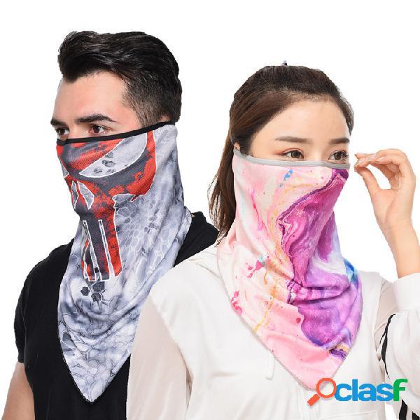 Equitação respirável de secagem rápida máscara filtro solar à prova de vento para pesca máscara