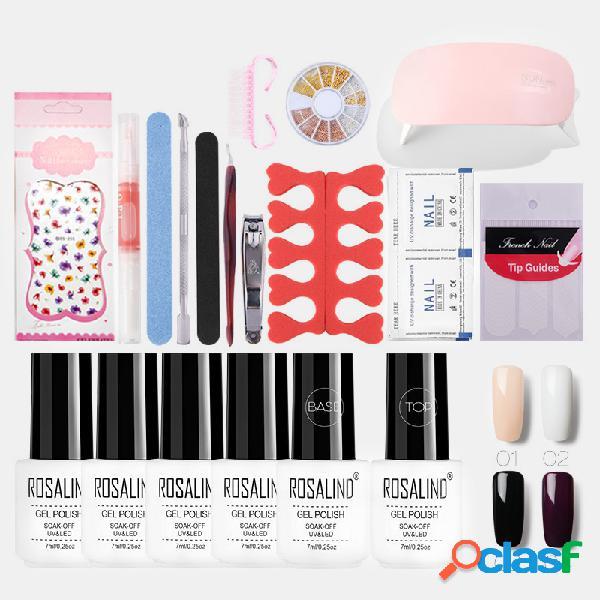 Manicure unhas art gel unhas kit polonês metal pearl unhas polonês conjunto de máquina de fototerapia