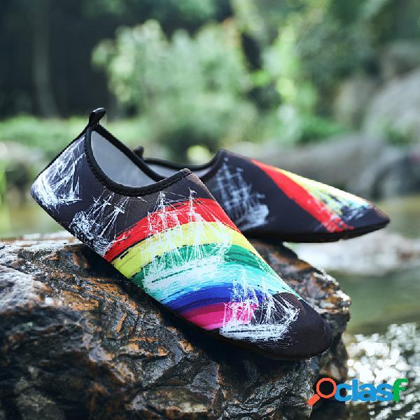 Homens multifuncionais refrescantes de secagem rápida casuais praia sapatos de mergulho