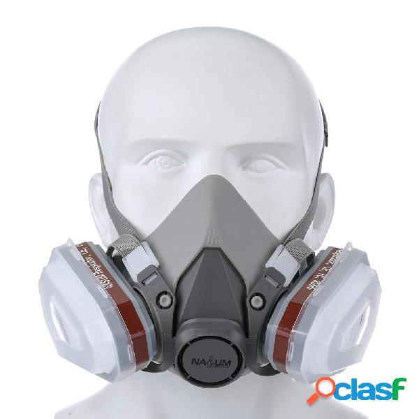 Gás máscara da camada de respiração de dupla camada respirador de pulverização máscara poeira do filtro máscara