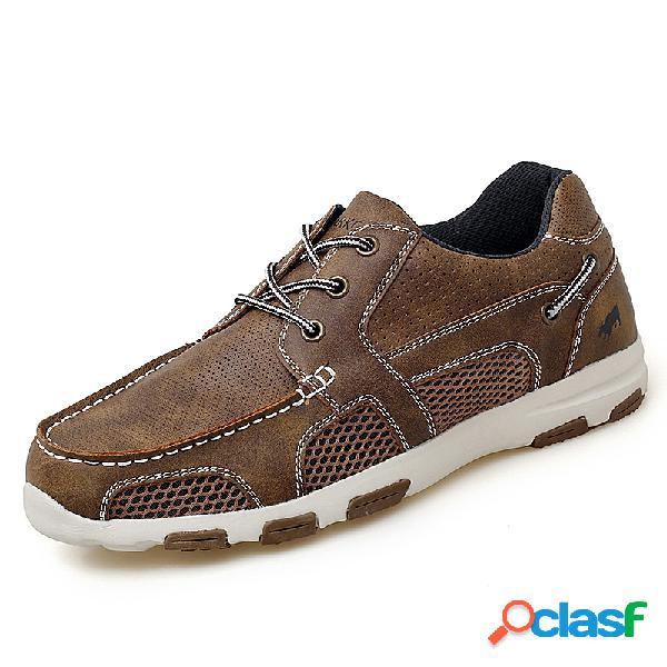Malha de couro de microfibra de homens que une soft únicos sapatos de água ocasionais
