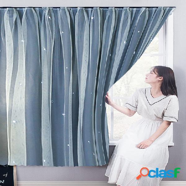 Cortina sem punção para aluguel de casa com pano de proteção autocolante no quarto cortina de tela para janela saliente