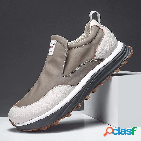 Homens impermeável pano de seda gelo secagem rápida antiderrapante sapatos casuais